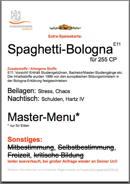 Bologna in der Mensa
